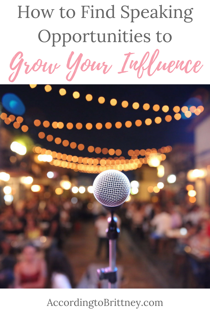 How to Find Speaking Opportunities to Grow Your Influence