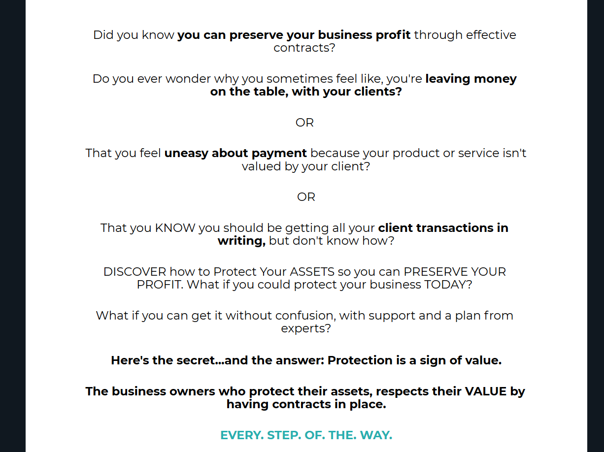 Sales Page – Legal Consultant